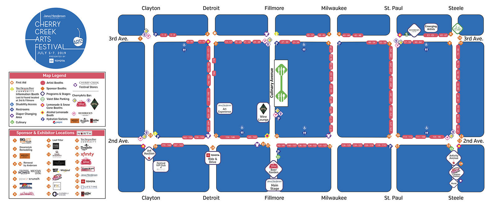 Cherry Creek Arts Festival Directions & Maps - Cherry Creek