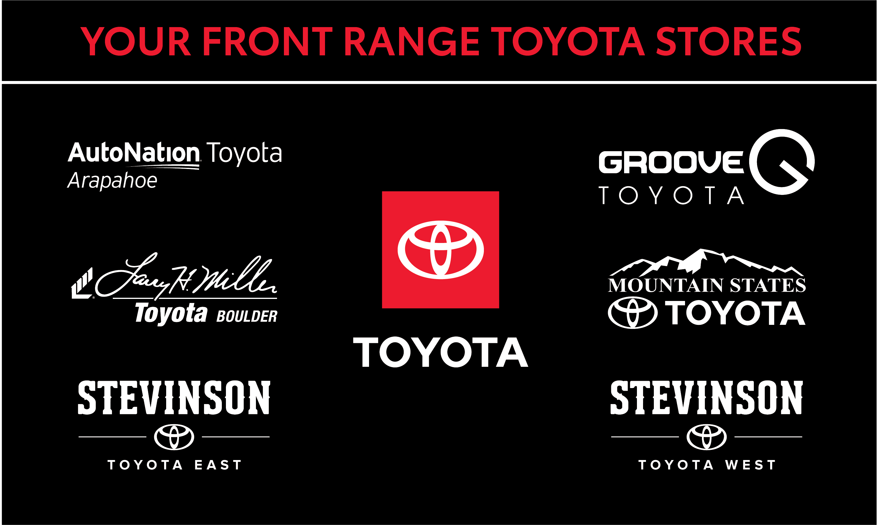 Your Front Range Toyota Stores